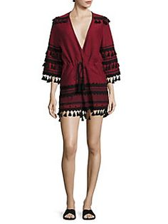 DODO BAR OR - Yefet Cotton Tassel-Trim Romper