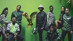 The bright green Nike Nigerian football kit from the 2018 FIFA World Cup is once more available to buy, alongside some new pieces. Take a look here. Football Kits, Football Soccer, Soccer Sports, Design Museum, World Cup Kits, Eagles Jersey, World Cup Jerseys, Football Fashion, Estilo Fashion