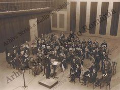 Istoria Radio România în imagini - Anii interbelici - Orchestra Radio în Studioul Mare, 1932