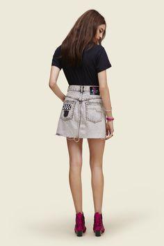 High Waisted Mini Skirt With Embellishments