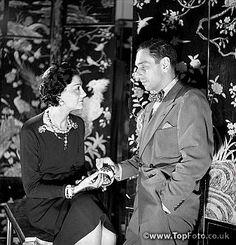 Coco Chanel, French couturier and Fulco di Verdura, Italian writer. Paris, 1937.