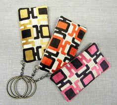 Mod velvet upholstery zipper clutch by GirlGeniusGoods, $40.00