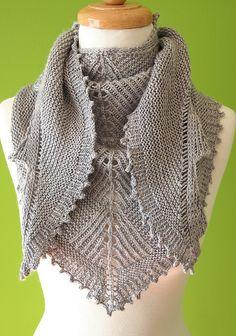 Sharktooth shawl by Stephen West by yarnloopie, via Flickr
