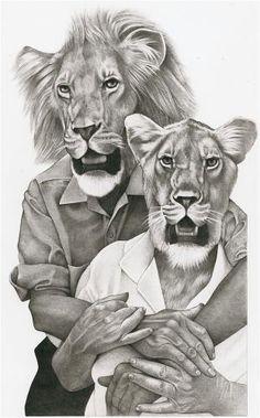 Lion Couple - Jim Worthy