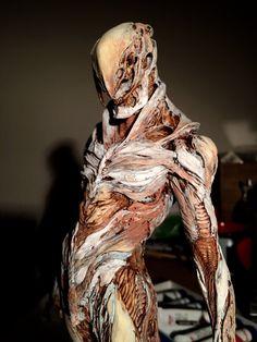 Alien Concept Art, Creature Concept Art, Dark Creatures, Fantasy Creatures, Creature Feature, Creature Design, Sculpture Art, Sculptures, Dark Art Drawings