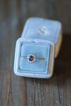 $1200 OBSESSED! Antique Engagement Ring Edwardian Sapphire and by AmuletteJewelry