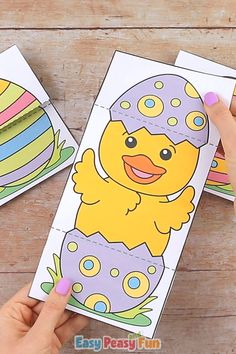 If you are looking for a quick no prep Easter project for your home or your classroom this Surprise Easter Egg Cards Craft is just the craft! for the home Surprise Easter Egg Cards Craft Paper Crafts For Kids, Fun Crafts, Paper Crafting, Easter Projects, Easter Crafts, Spring Crafts, Holiday Crafts, Egg Card, Easter Eggs