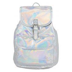 BJX Kids Mini Iridescent Rucksack Backpack Handbag ($17) ❤ liked on Polyvore featuring bags, backpacks, handbags, manmade handbags, metalic, backpacks bags, metal backpack, mini bag, iridescent backpack y snap bag