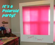 Awesome idea for your teen's birthday! Teen Polaroid Party - It's me, debcb!