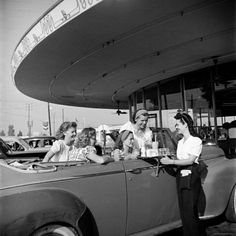 vintage car hop, photo by Nina Leen