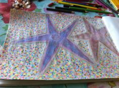 Starfish  Colored Pencil Drawing  By Creative Artistry by Christina V Saunders