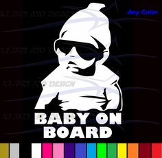 """The Hangover Baby Carlos Baby on Board Vinyl Sticker Decal for Car Truck Wall Window Door Any Color 8"""". $3.99, via Etsy."""
