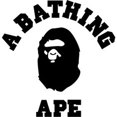 One of my favorite brands. The ape looks cool. Like he speaks English lol. The name of this brand is BAPE. I like thick bold letters . Bape Wallpaper Iphone, Wallpaper Backgrounds, Graph Design, Logo Design, Tee Design, Supreme Background, Tumblr Wall Art, Bape Outfits, Transportation Logo
