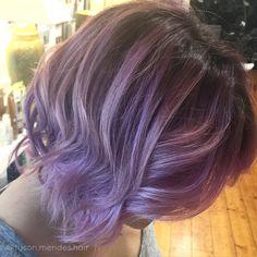 Pastel purple balayage