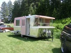 Someday I will have a vintage travel trailer to restore, & we'll pull it with a restored Chevy, & belong to one of those fabulous clubs. lol