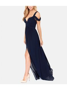 Shoulder Cut Out Full Dress - Royal Blue @idadress