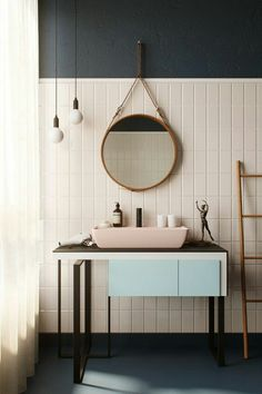 Contemporary bathrooms 851039660818502454 - FIND OUT: 15 Attracting Pastel Bathroom Interior Design Ideas Pastel Bathroom, Bathroom Colors, Modern Bathroom, Small Bathroom, Bathroom Ideas, Bathroom Organization, Bathroom Mirror Wall, Entryway Mirror, Minimal Bathroom