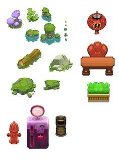 Mobile games by Mickael Balloul, via Behance