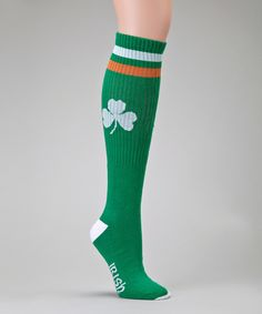Look at this Green & White Tube Socks on #zulily today!