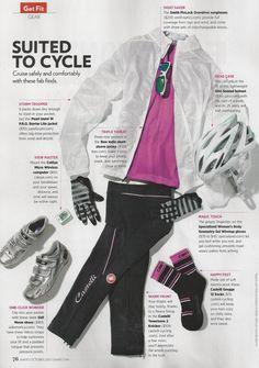Cute cycling gear featured in Shape magazine.   www.brooklynfitchick.com