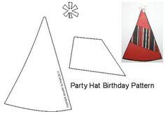 5 Free Birthday Paper Piecing Patterns: 5 Free Birthday Patterns - Party Hats Paper Piecing Patterns