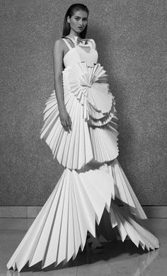 Louise Goldin Paper Dress for Coutts