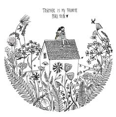 Postcard: Together is my favorite place to be - Illustration: Marieke ten Berge