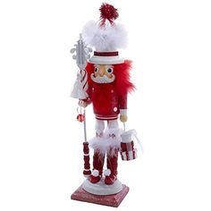 Kurt Adler Hollywood Red and White Stripe Nutcracker 18Inch * Read more reviews of the product by visiting the link on the image.