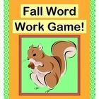 Fall is a great time for DESCRIPTIVE LANGUAGE and 16 NEW SIGHT WORDS!  Play a GROUP GAME about two Squirrel buddies who find Fall leaves, nuts, and sticks.  Use the LEAF, NUT, and STICK TEMPLATES provided, or go outside and collect some from nature!  Sing a funny familiar-tune SONG-- song notes provided.  16 FALL SIGHT WORD CARDS plus BLANK CARDS included.  Multi-Sensory WORD WORK for K-1; ORAL LANGUAGE DEVELOPMENT for PRESCHOOL.  (14 pages)  Joyful Noises Express TpT!  $