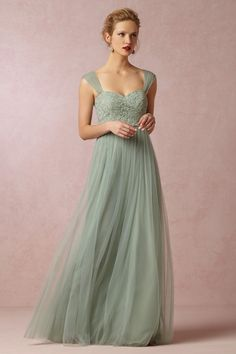 Bridal gown in soft green  BHLDN Fall 2014 Collection Preview