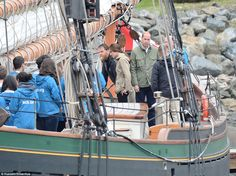 The ship's Bosun showed the pair around the spectacular ship, introducing them to crew mem...