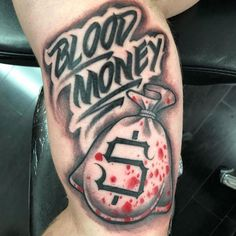 125 Best Inner Bicep Tattoos For Men Blood Money Bicep Tattoo Ideas – Best Inner Bicep Tattoos For Men: Cool Inside Arm Bicep Tattoo Designs and Ideas For Guys Gangsta Tattoos, Dope Tattoos, Tattoos Arm Mann, Forarm Tattoos, Arm Tattoos For Guys, Body Art Tattoos, Guy Tattoos, Side Hand Tattoos, Script Tattoos
