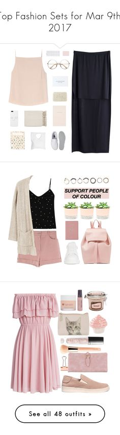 """Top Fashion Sets for Mar 9th, 2017"" by polyvore ❤ liked on Polyvore featuring MTWTFSS Weekday, T By Alexander Wang, Fresh, Surya, Kate Spade, Vans, Jennifer Haley, L'Agence, Iosselliani and MANGO"