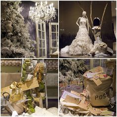 Holiday windows at Monique Lhuillier Melrose Place flagship