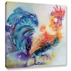 Latitude Run Cockerel 21 Painting Print on Wrapped Canvas Size: