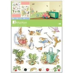 Baby 39 s room ideas on pinterest peter rabbit peter for Beatrix potter wall mural