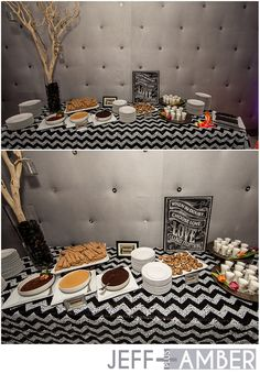 RAADstyle.com #wedding #chevron table #black & White #churro bar #diy #cinco de mayo #wedding