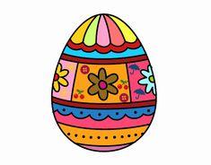 Dibujo de Huevo de Pascua con decoraciones pintado por  en Dibujos.net el día 06-01-18 a las 18:08:36. Imprime, pinta o colorea tus propios dibujos!