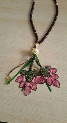 Yapa in eline saglik Tassel Necklace, Crochet Necklace, Lace Art, Point Lace, Needle Lace, Ribbon Embroidery, Handicraft, Needlepoint, Needlework