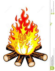 clip art campfire outline   campfire clipart   AHG Craft ...