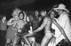 Grace Jones, Divine and friends at Studio 54. http://confessionsofaboytoy.com/2015/04/28/nsfw-rare-uncensored-photos-studio-54/
