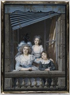 A portrait of a woman with her children by Jacques Antoine Marie Lemoine, 1787…