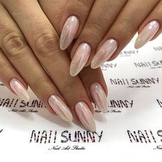 """If you're unfamiliar with nail trends and you hear the words """"coffin nails,"""" what comes to mind? It's not nails with coffins drawn on them. It's long nails with a square tip, and the look has. Pearl Nails, Gold Nails, White Nails, Pink Nails, My Nails, White Glitter, Glitter Shoes, White Chrome Nails, Clear Glitter Nails"""