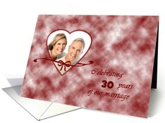 Wedding anniversary invitation - photo card