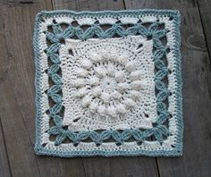 "Ravelry: Crown Jewels - 12"" square pattern by Melinda Miller Crochet Motifs, Granny Square Crochet Pattern, Crochet Potholders, Crochet Granny, Crochet Crown, Crochet Squares Afghan, Crochet Blocks, Manta Crochet, Crochet Stitches Patterns"