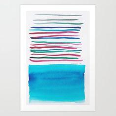 Lines & Color Block Series October 2018 Watercolor Art Paintings, Pastel Watercolor, Butterfly Watercolor, Watercolor Pattern, Watercolor Artists, Watercolor Print, Painting Art, Watercolors, Art Prints Quotes