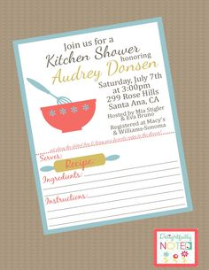 kitchen shower invitations with recipe card | il_570xN.313740680.jpg