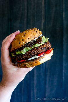 Sandwich Recipe: Black Bean Walnut Burgers
