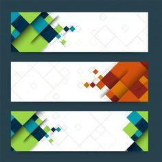 En-tête abstrait ou bannière avec des formes géométriques. Vecteur gratuit