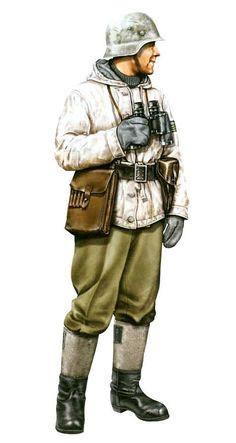 WEHRMACHT - Unteroffizier durante l'assedio di Stalingrado, 1942